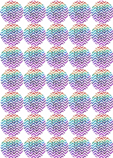 Chevron Glitter Happy Post Stickers